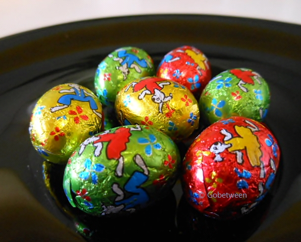 Easter eggs wrapped gobetween