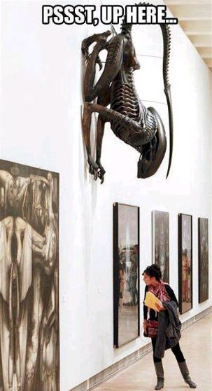 up here H.R. Giger museum