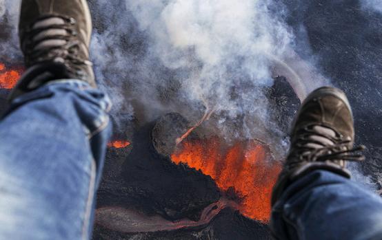 volcano lava underfoot