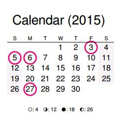 2015 calendar print