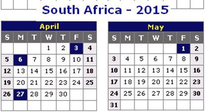 calendar 2015 with holidays printable